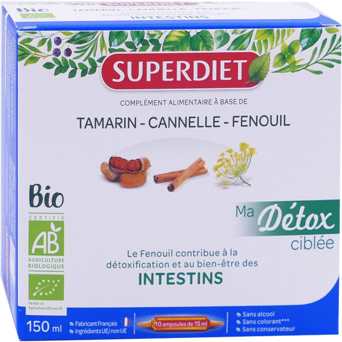 SUPER DIET Superdiet detox intestins 10 ampoules 15 ml bio