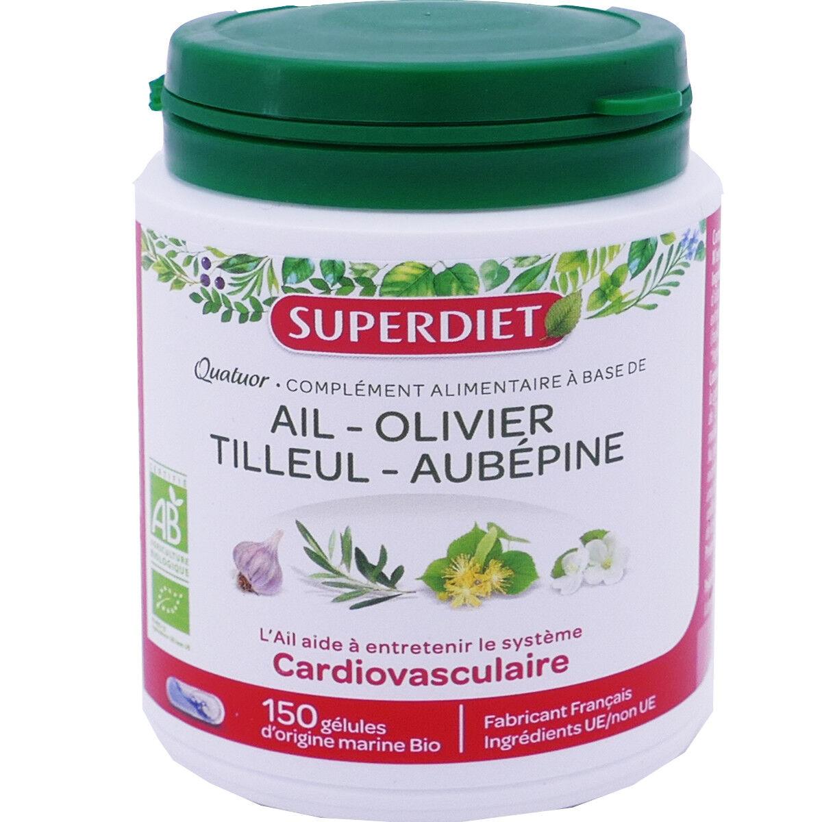 SUPER DIET Superdiet cardiovasculaire 150 gelules bio