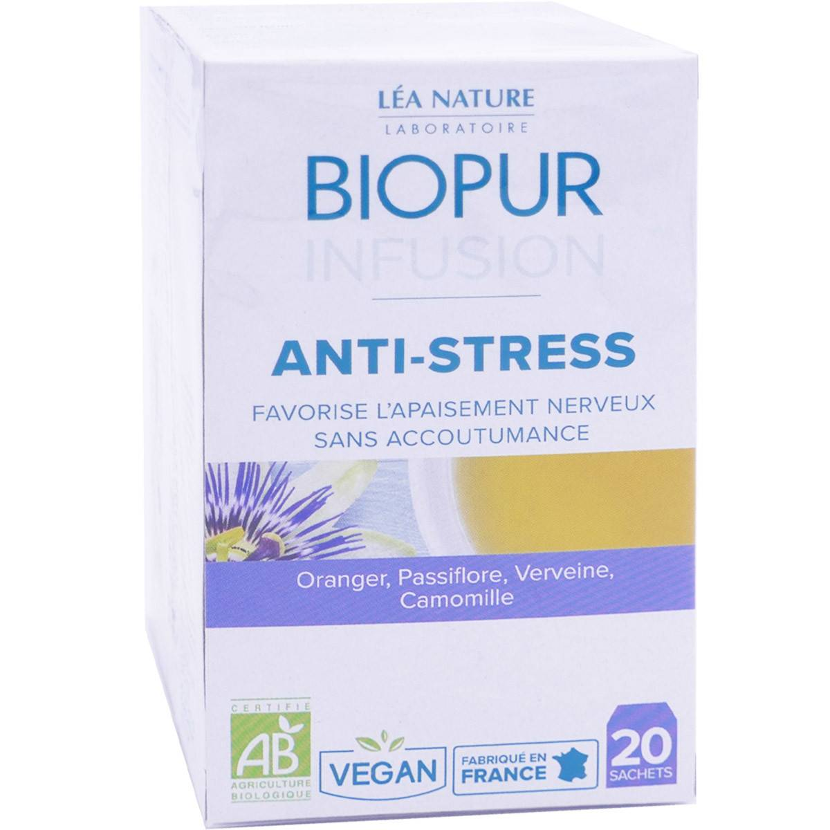 Biopur anti-stress bio 20 sachets vegan