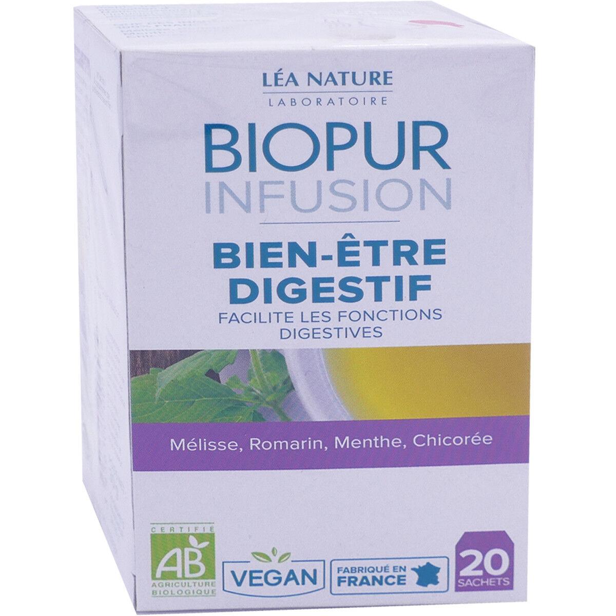 LEA NATURE Biopur infusion bien etre digestif 20 sachets bio