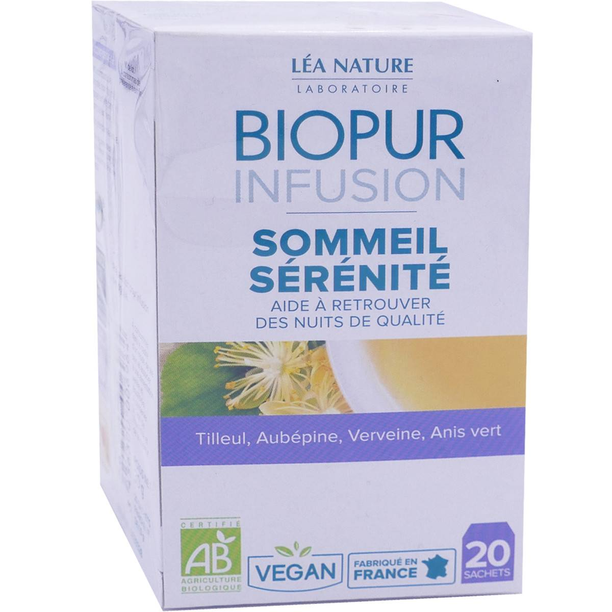 LEA NATURE Biopur infusion sommeil serenite 20 sachets bio