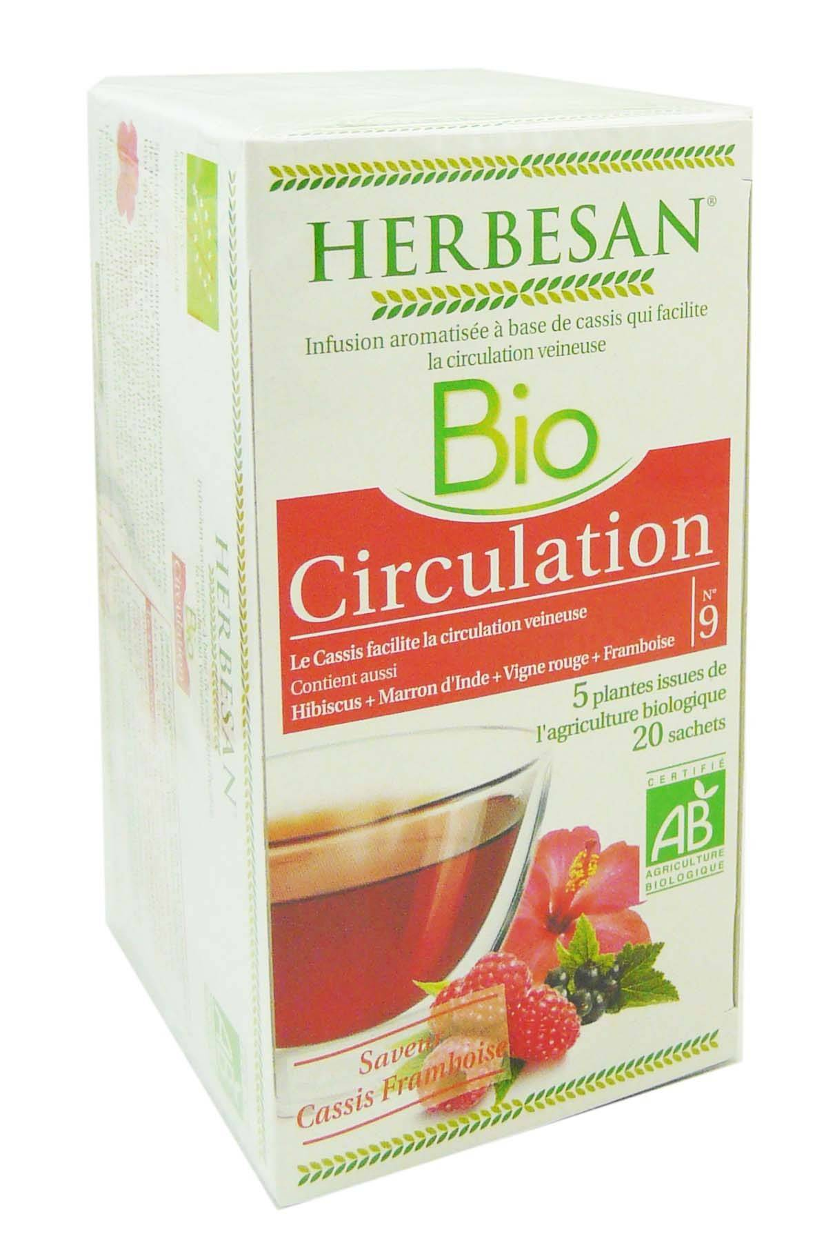 Herbesan infusion bio circulation 20 sachets