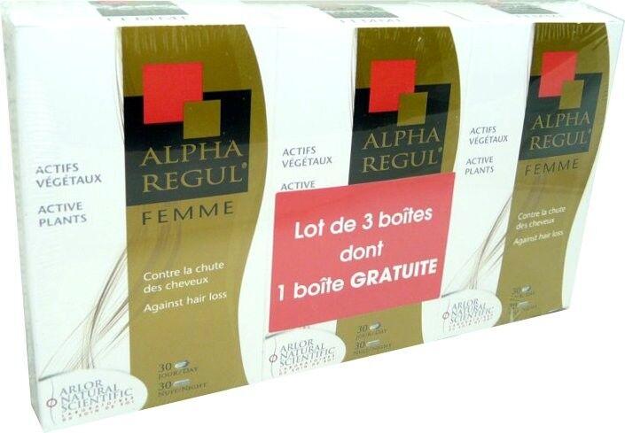 ARLOR Alpharegul femme anti-chute lot de 3 boites