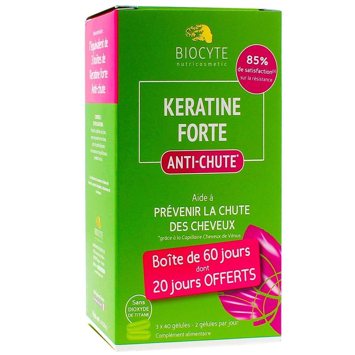 Biocyte keratine forte anti-chute 3x40 gelules
