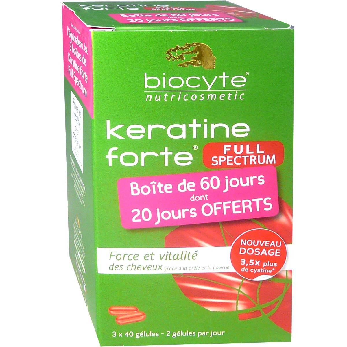 Biocyte keratine forte full spectrum 3x40 gelules
