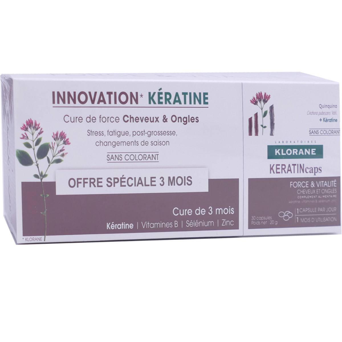 Klorane innovation keratine 3x30 capsules