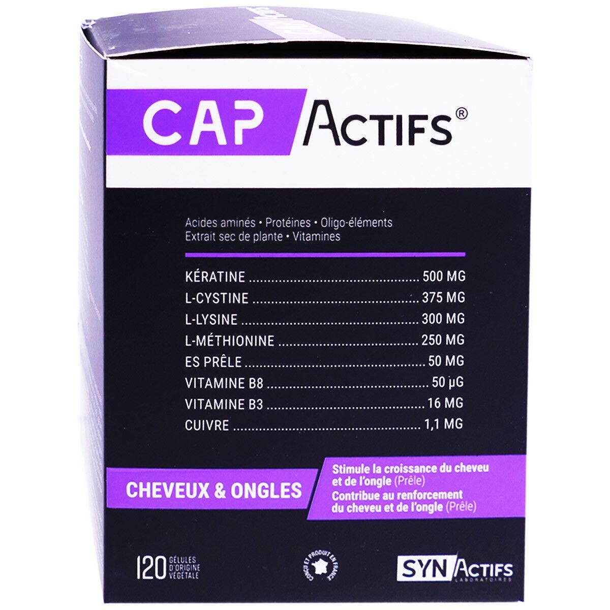 Syn actifs cap actifs cheveux & ongles 120 gelules