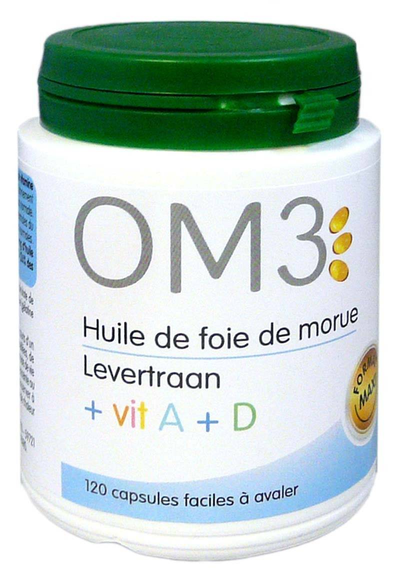 OM3 ISODIS NATURA Om3 huile foie de morue+ vit a et d 120 capsules