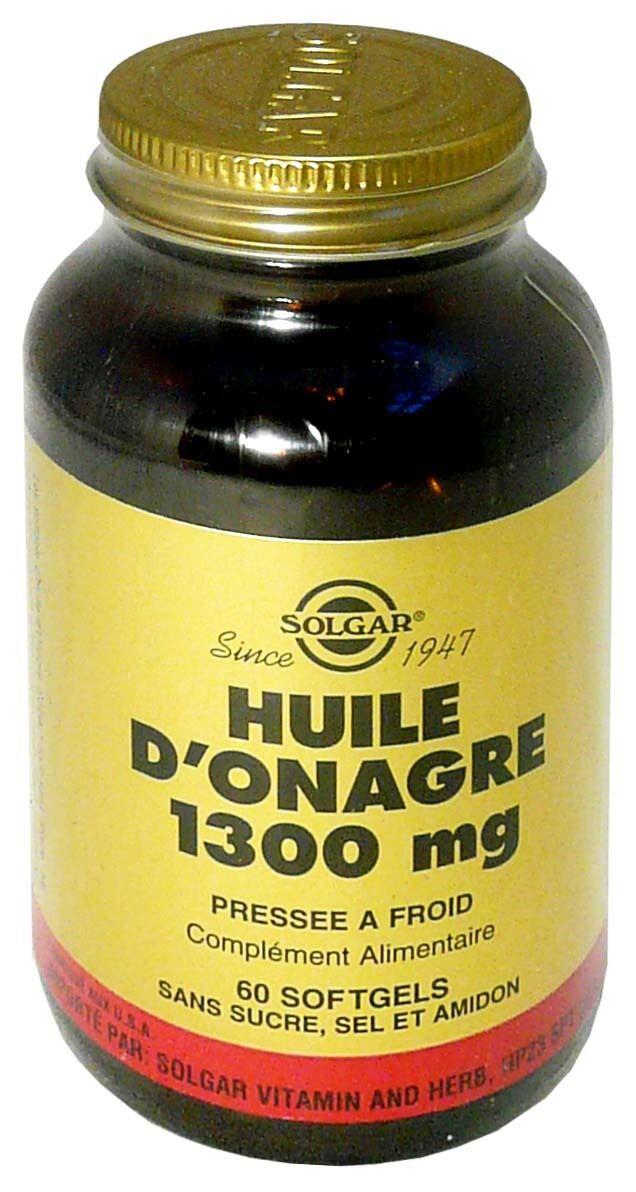 SOLGAR Huile d'onagre 1300 mg 60 softgels