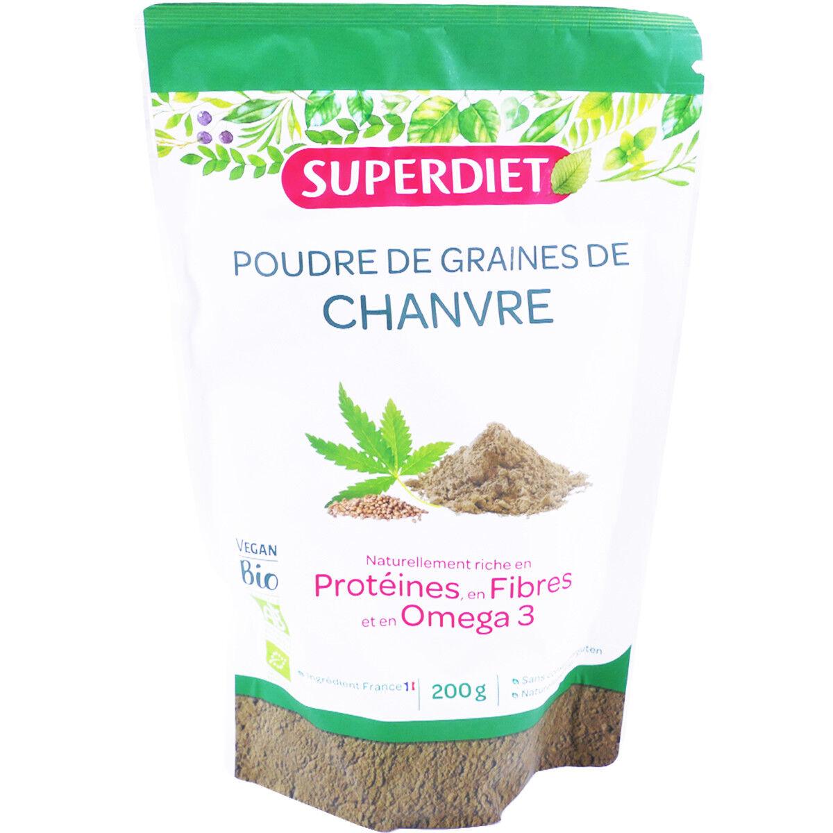 SUPER DIET Superdiet poudre de graines de chanvre 200 g bio