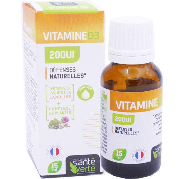 Sante verte vitamine d3 200 ui defenses naturelles 15ml