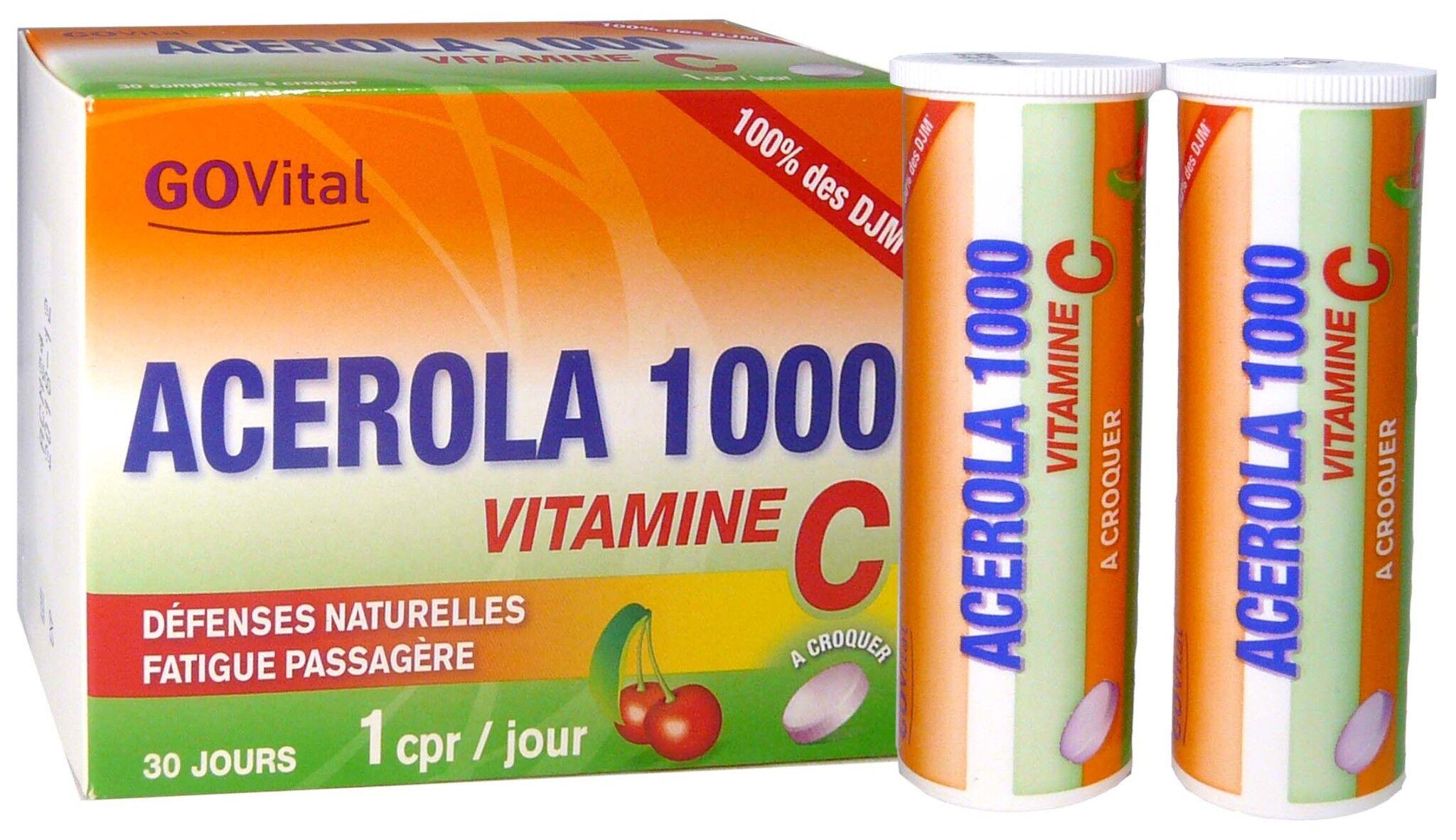 URGO Go vital acerola 1000+vitamine c 30 comprimes a croquer