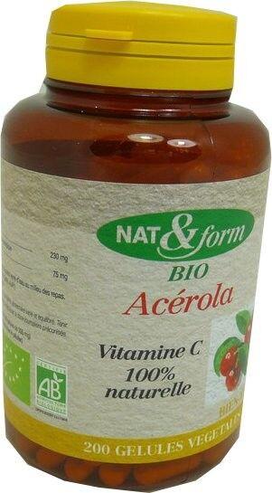 Nat & form acerola 200 gelules bio