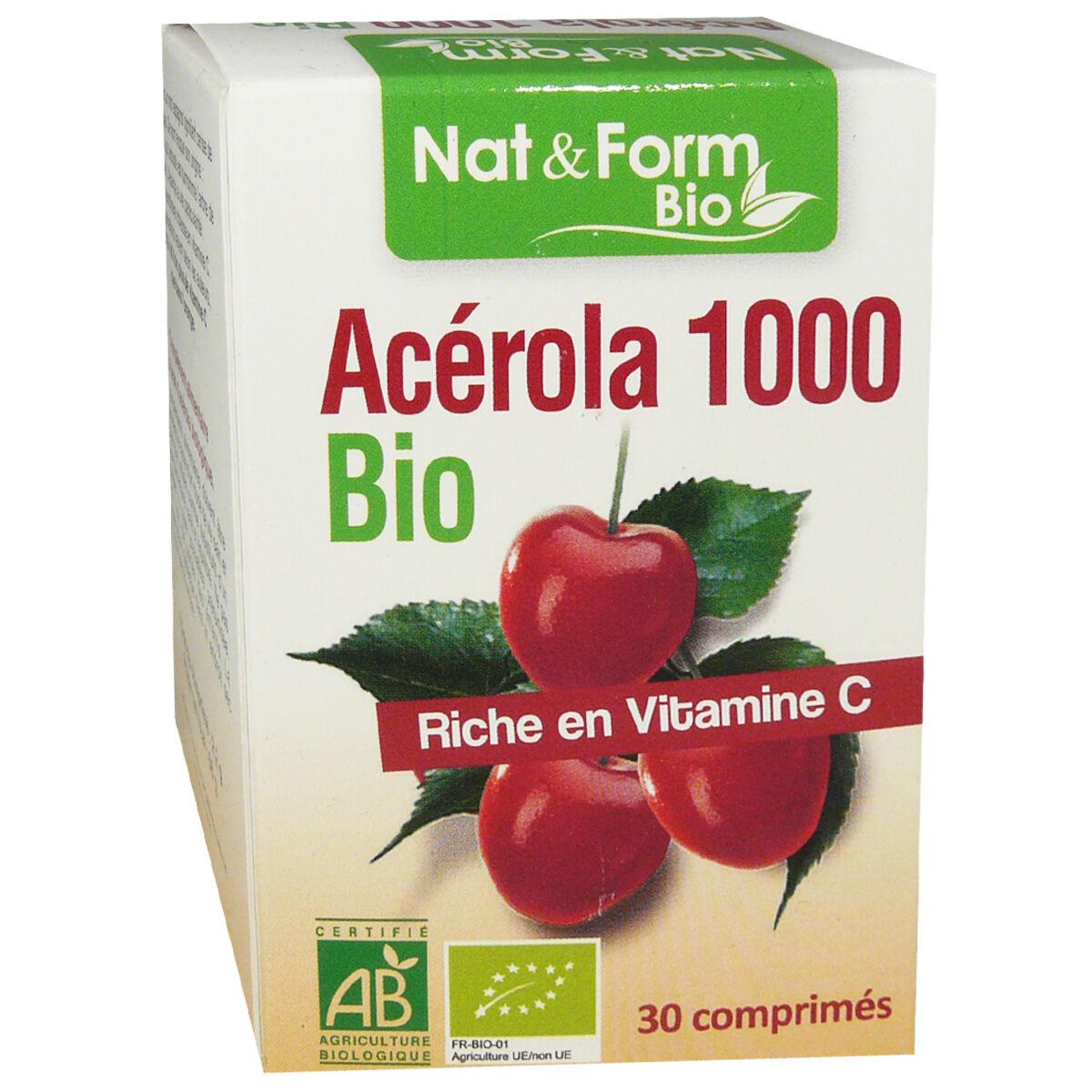 Nat & form acerola 1000 bio 30 comprimes