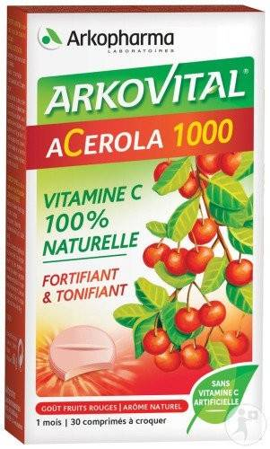 Arkopharma arkovital acerola 1000 30 comprimes