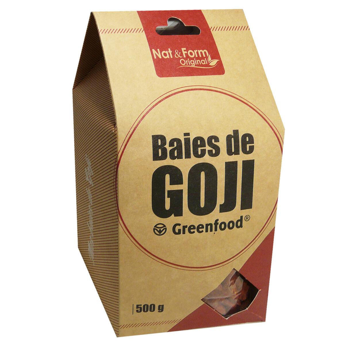Nat & form baies de goji greenfood 500 g