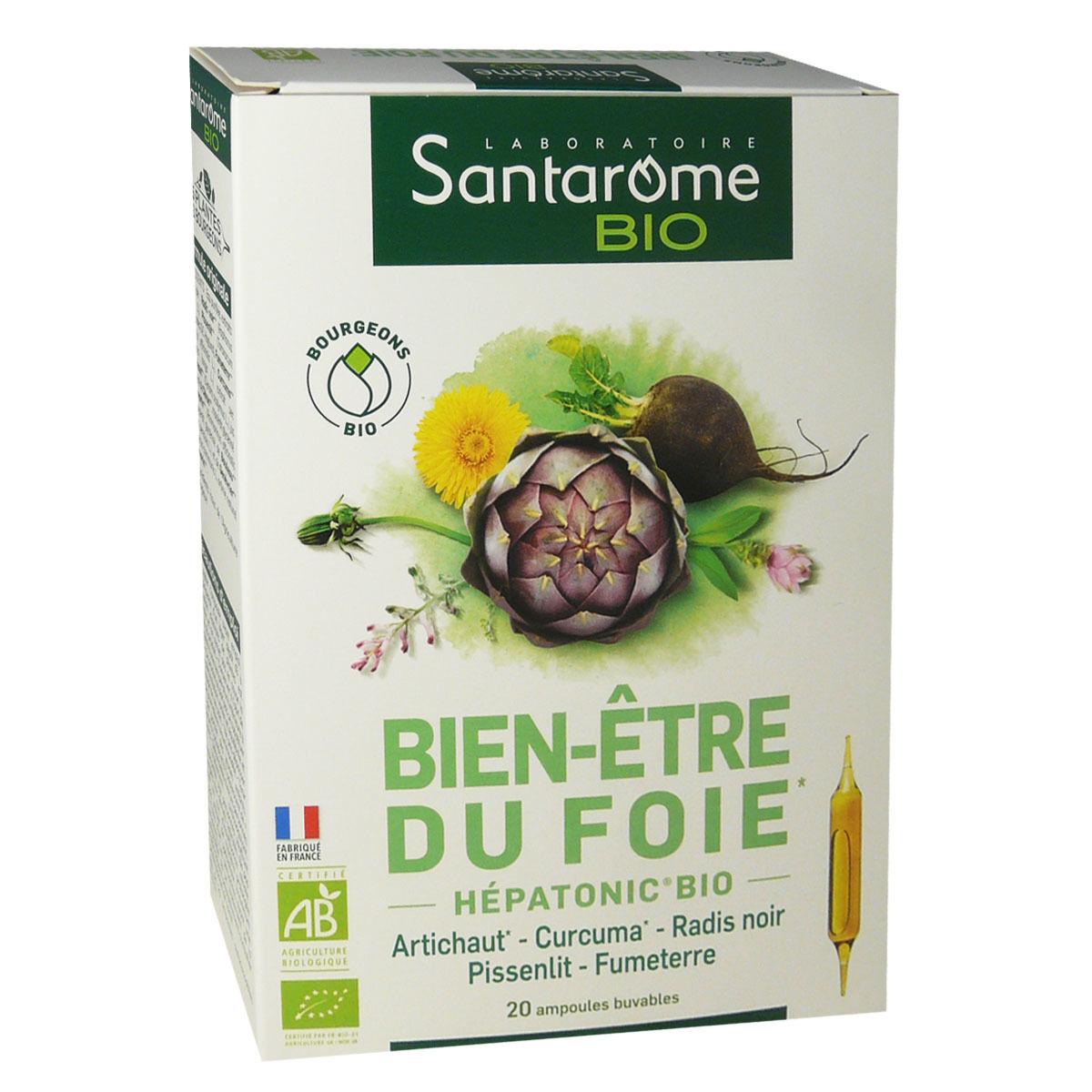 Santarome bio bien-etre du foie  20 ampoules 10 ml