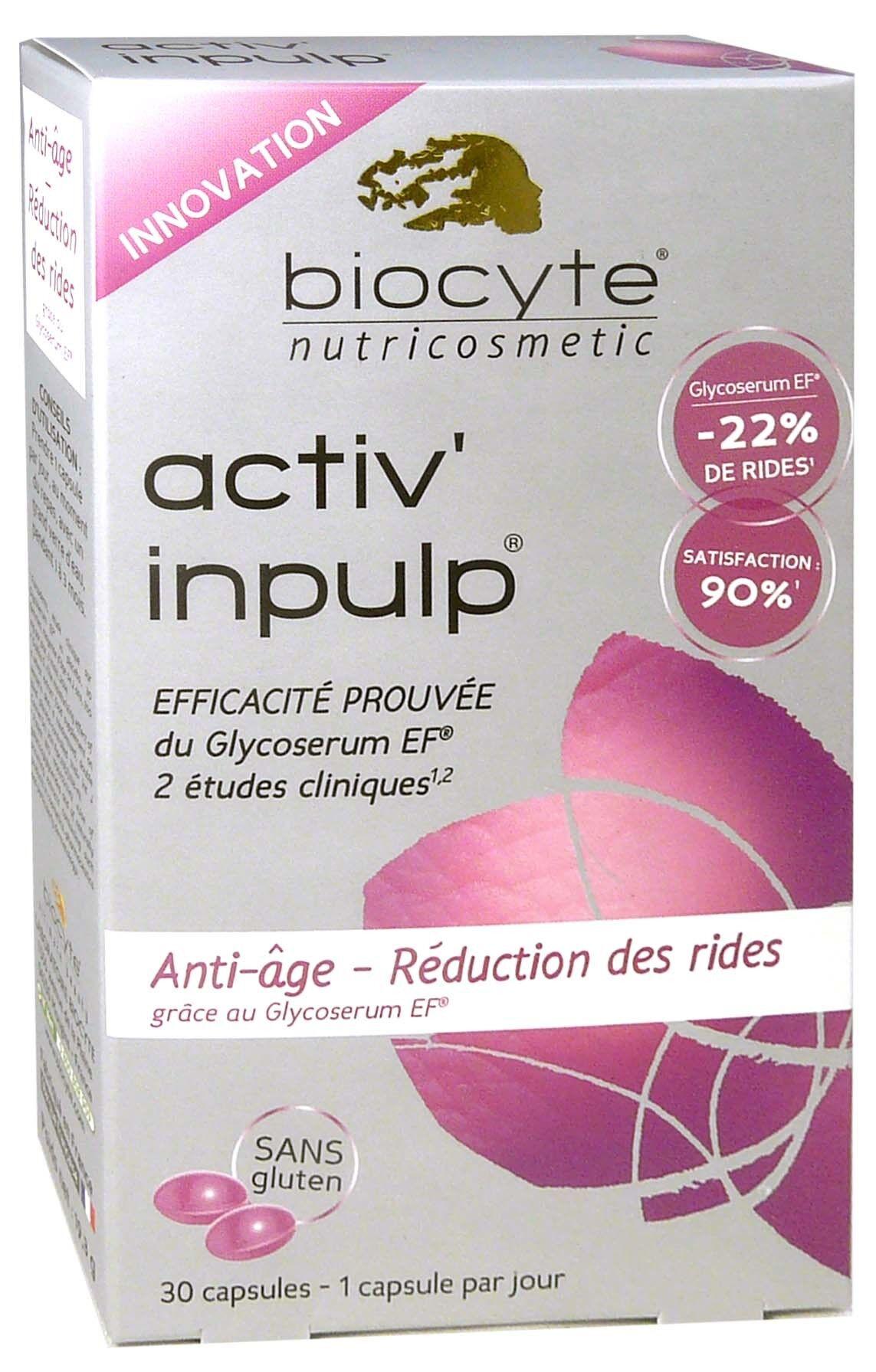 Biocyte activ inpulp anti-age boite 3 mois 3 x 30 capsules