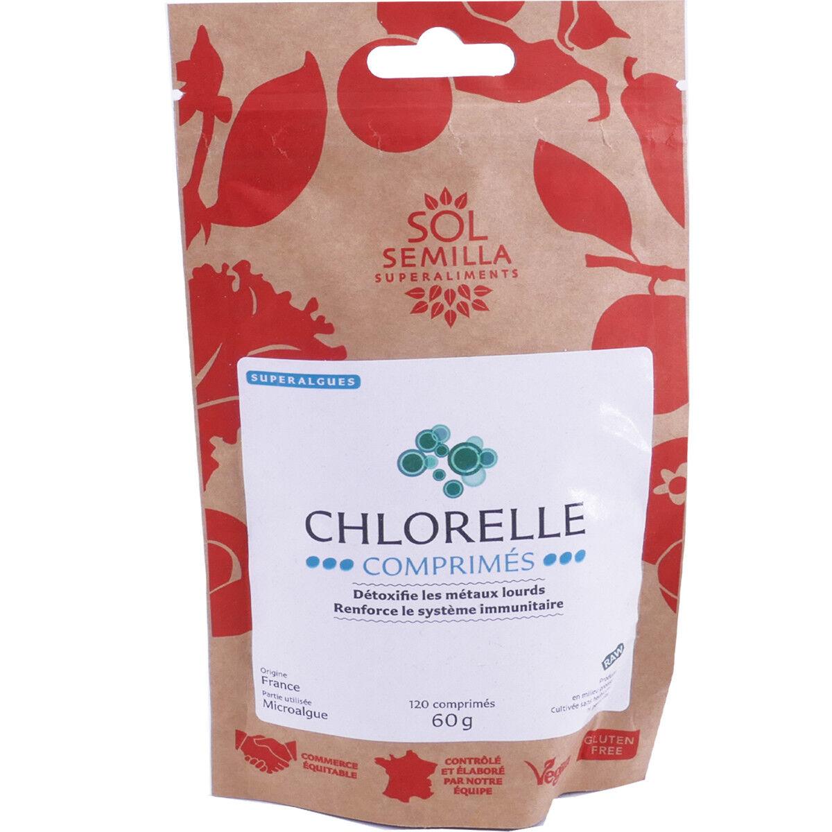 Sol semilla chlorelle dÉtoxifiant 120 comprimes