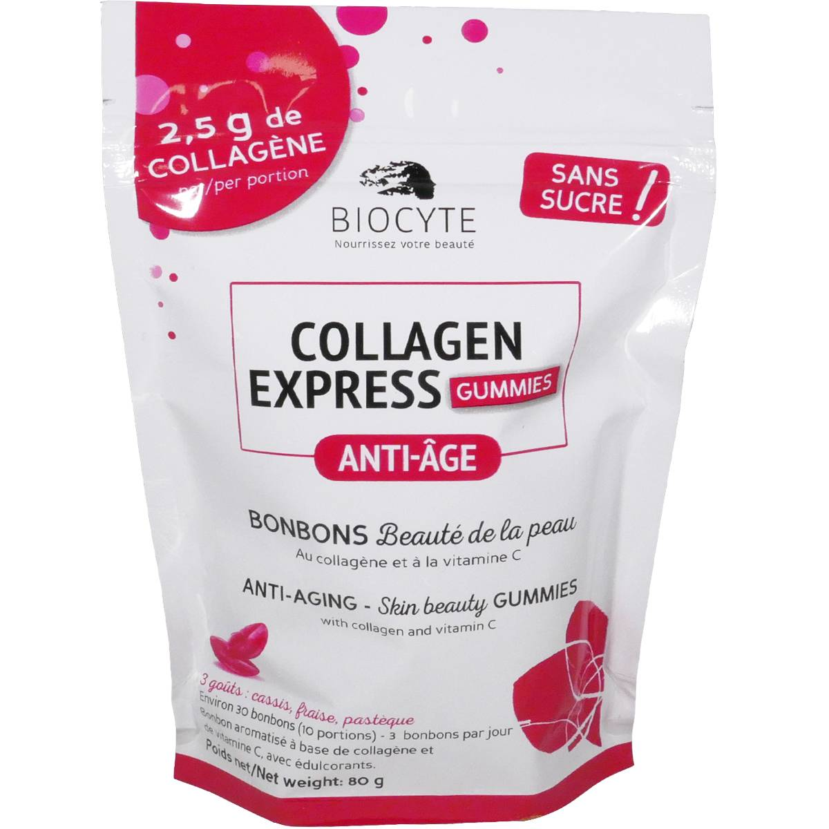 BIOCYTE Collagen express gummies anti-age bonbons 80 g