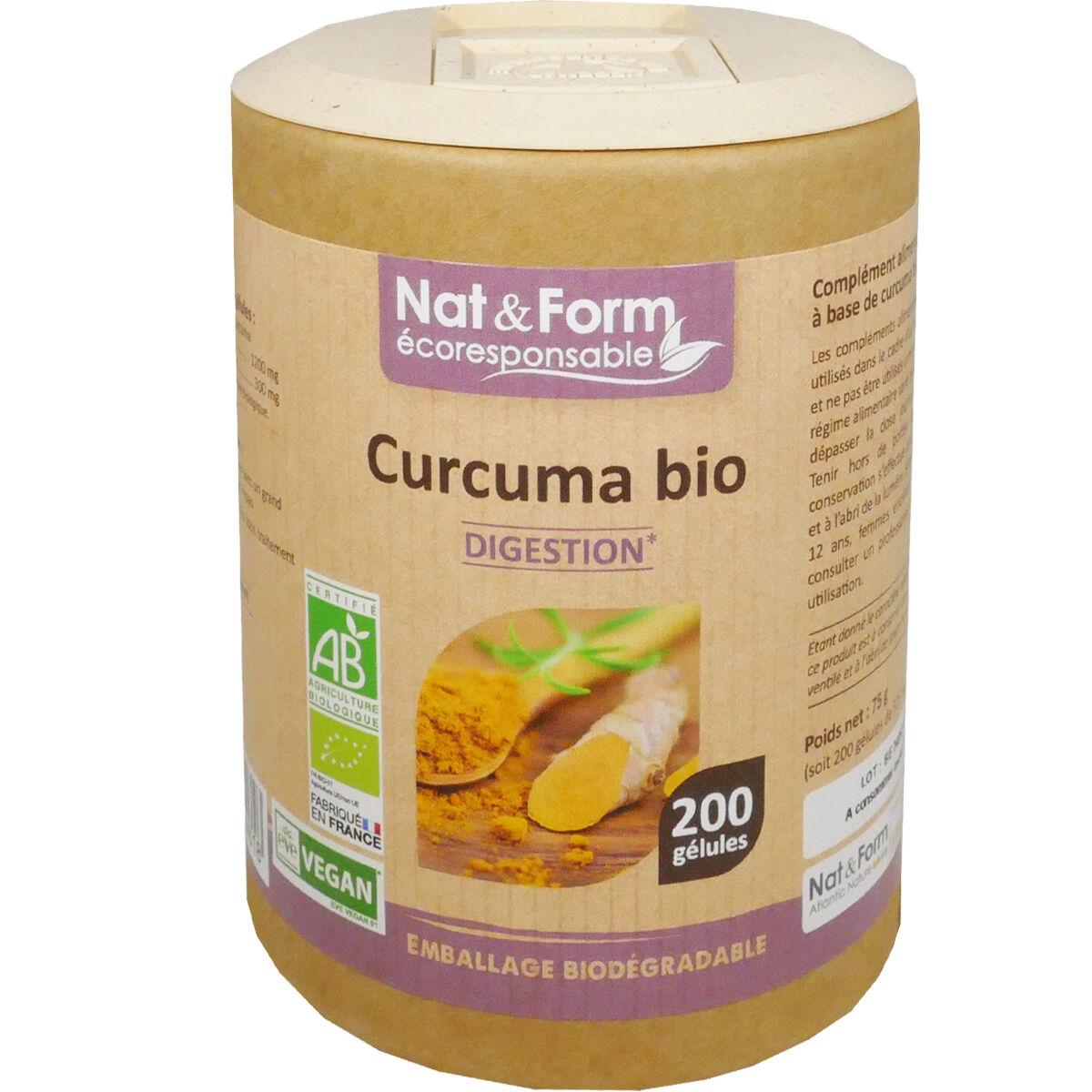 Nat & form curcuma bio 200 gelules