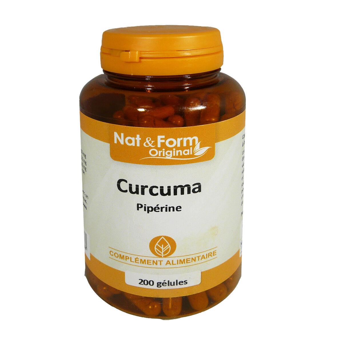 Nat & form curcuma piperine 200 gelules