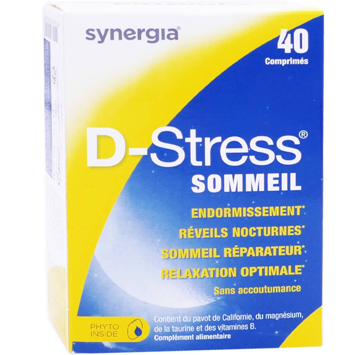 Synergia d-stress sommeil 40 comprimes