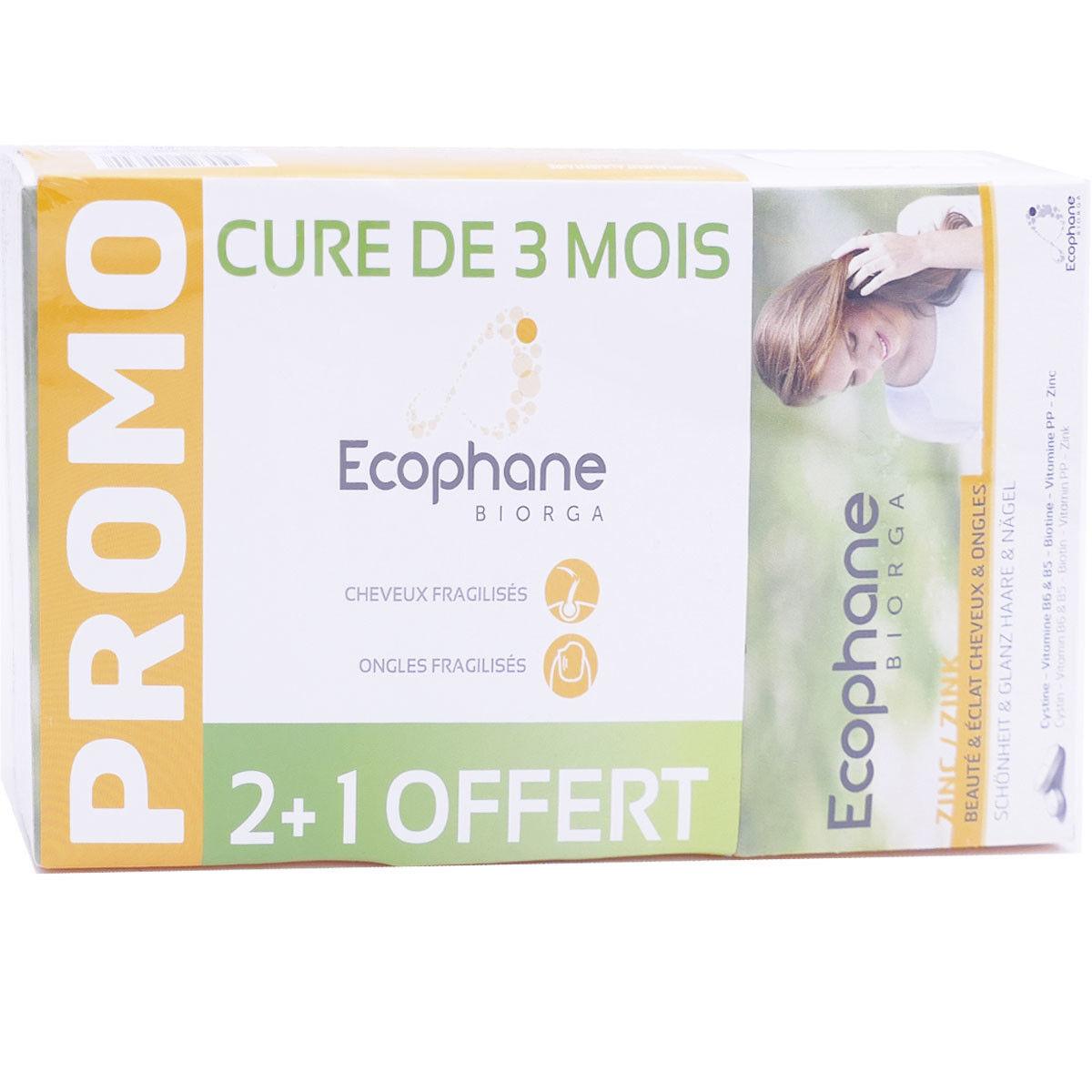 Ecophane cheveux ongles 3x60 comprimes