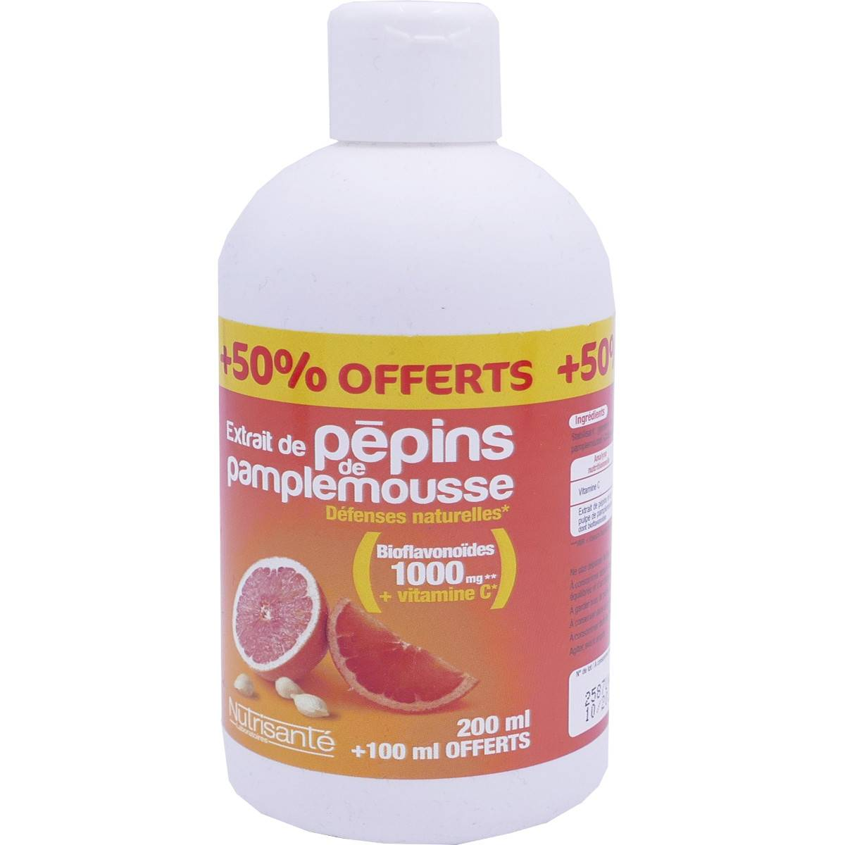 Nutrisante pepins de pamplemousse 200 ml+100 ml offert