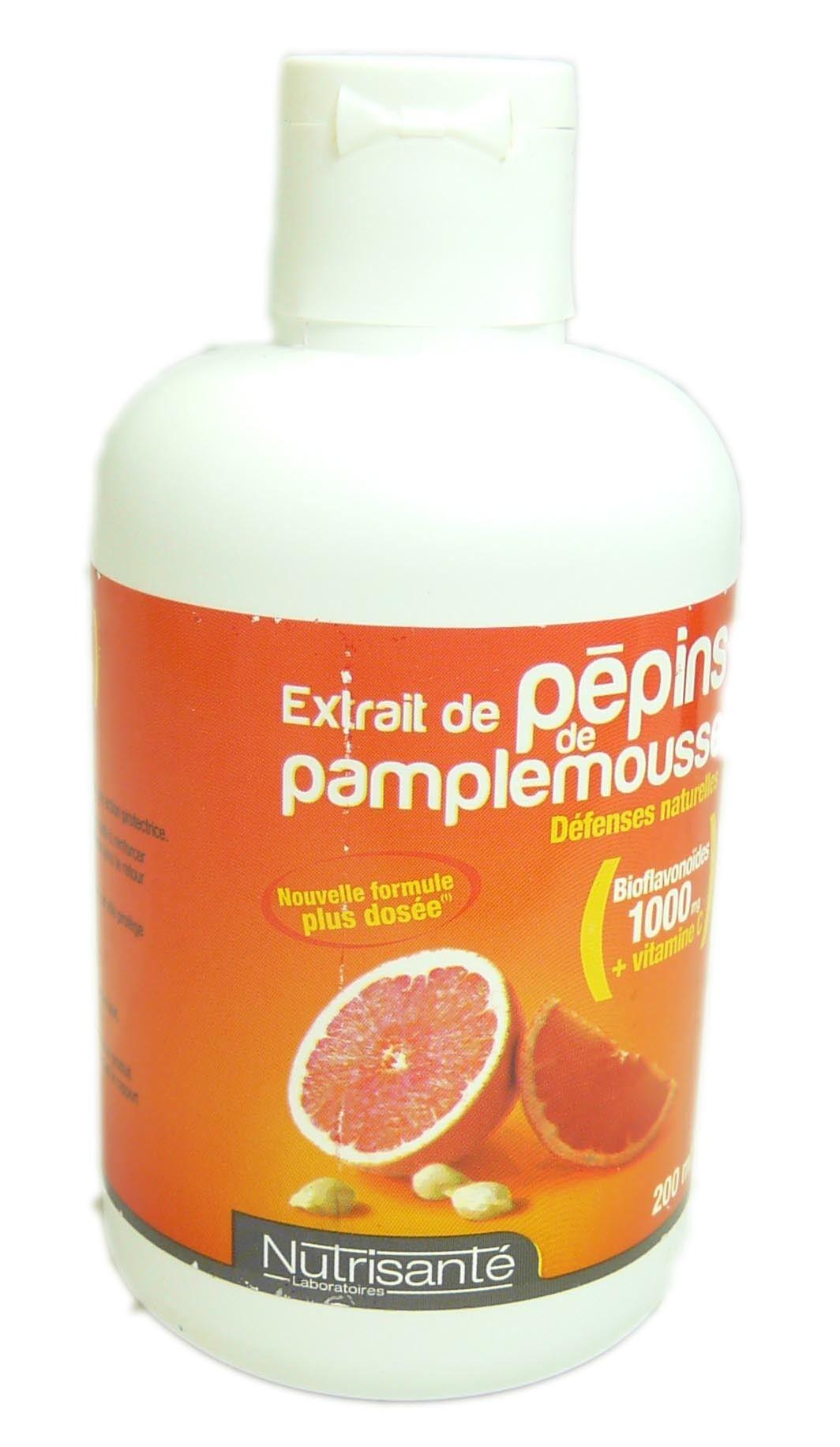 NUTRISANTE Extrait pepin  pamplemousse nutrisante 200ml