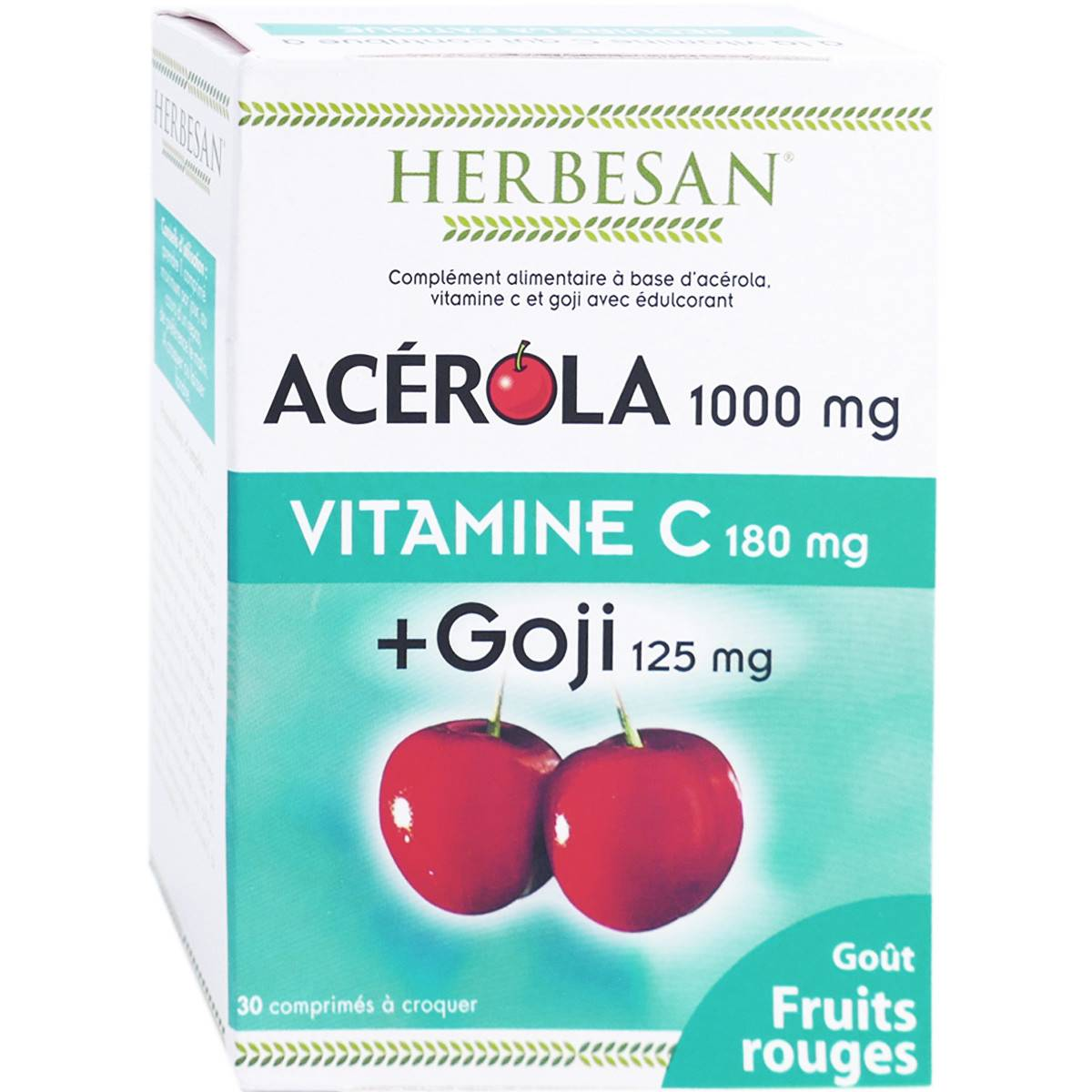 Herbesan acerola 1000 + goji vitamine c 30 comprimes