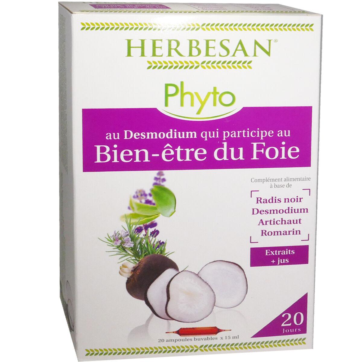 Herbesan phyto bien etre du foie 20 ampoules x 15 ml