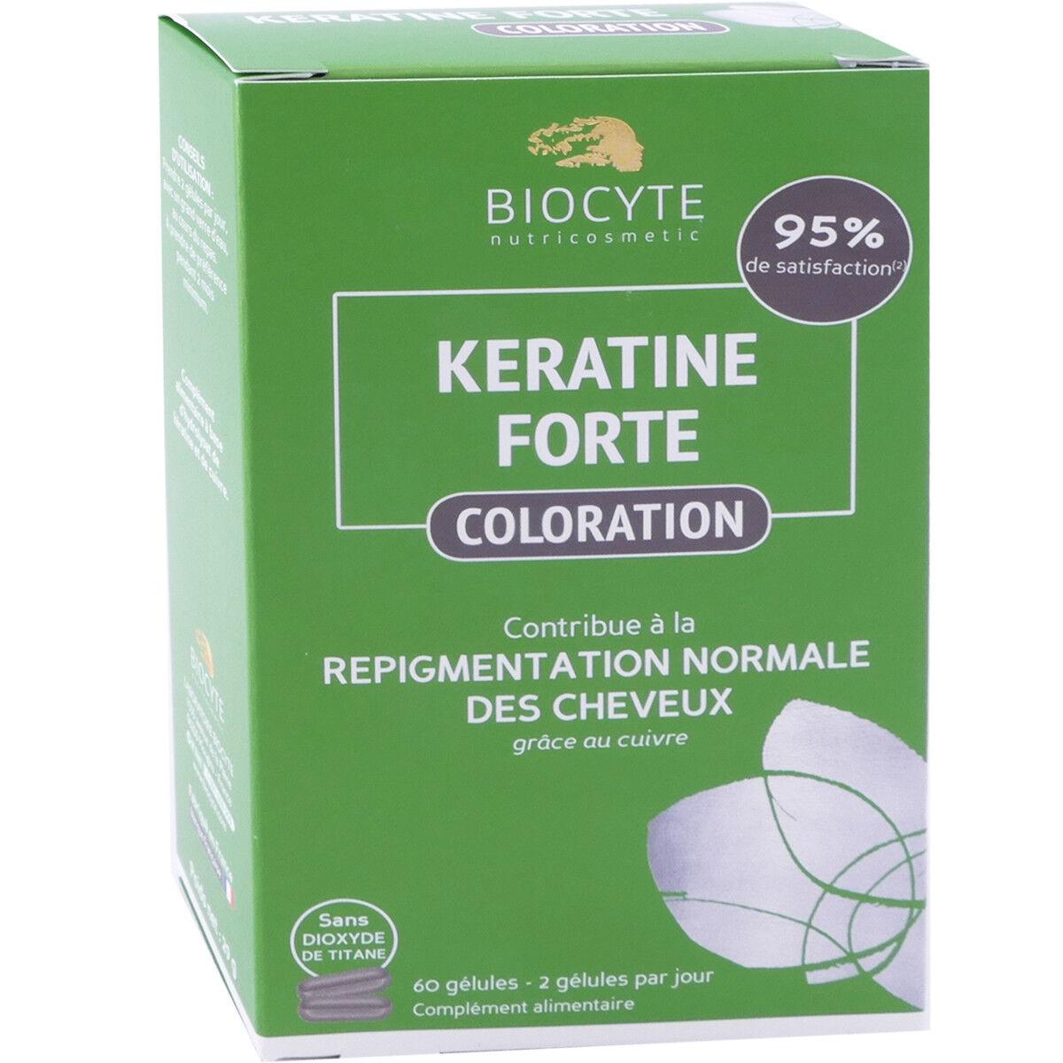 Biocyte keratine forte coloration 60 gÉlules