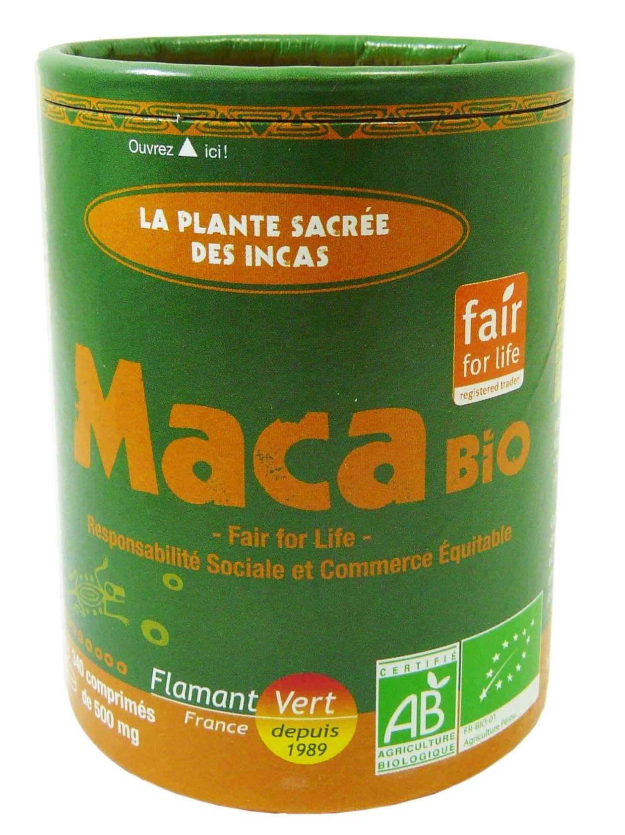 FLAMMANT VERT Flamant vert maca bio 340 comprimes