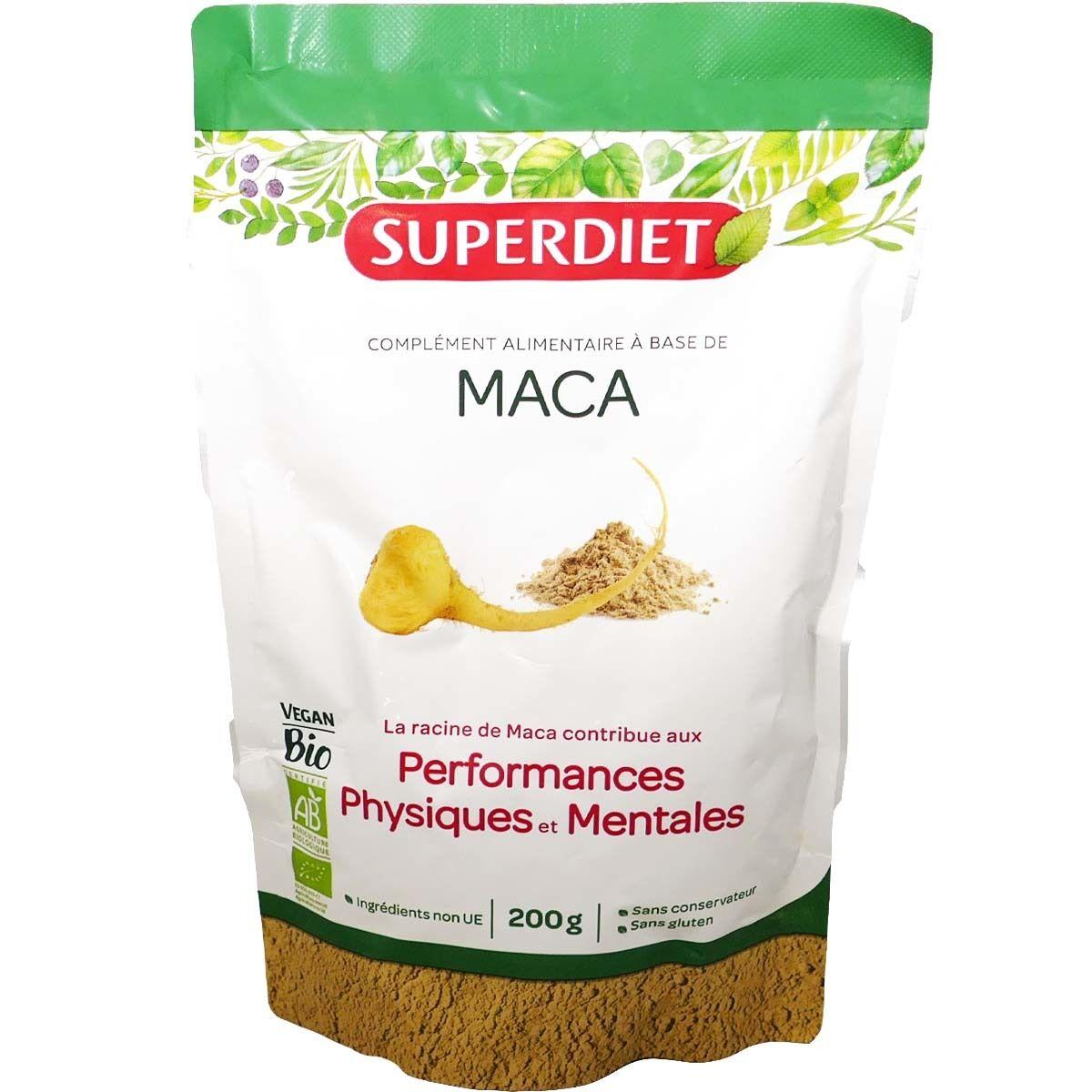 SUPER DIET Superdiet maca performances physiques & mentales 200 g bio