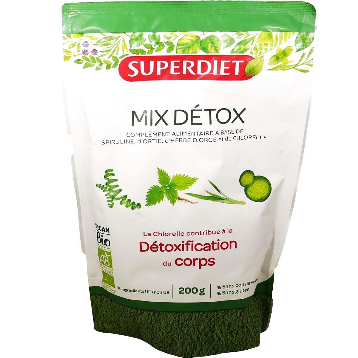 SUPER DIET Mix detox detoxification du corps 200 g bio