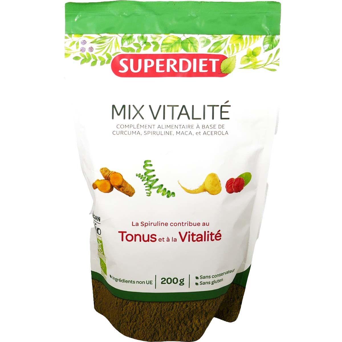 SUPER DIET Superdiet mix vitalite tonus & vitalite 200 g bio