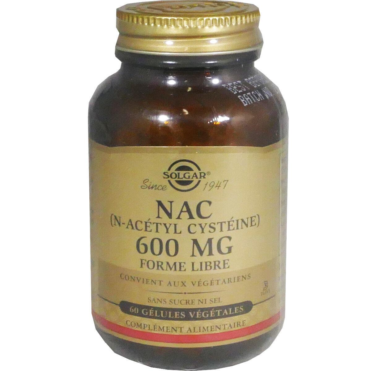 Solgar nac n-acetyl cysteine 600 mg 60 gelules