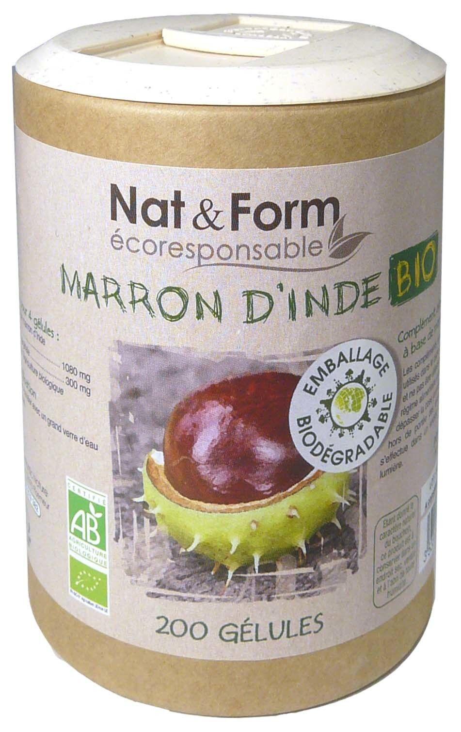 Nat & form marron d'inde bio 200 gelules