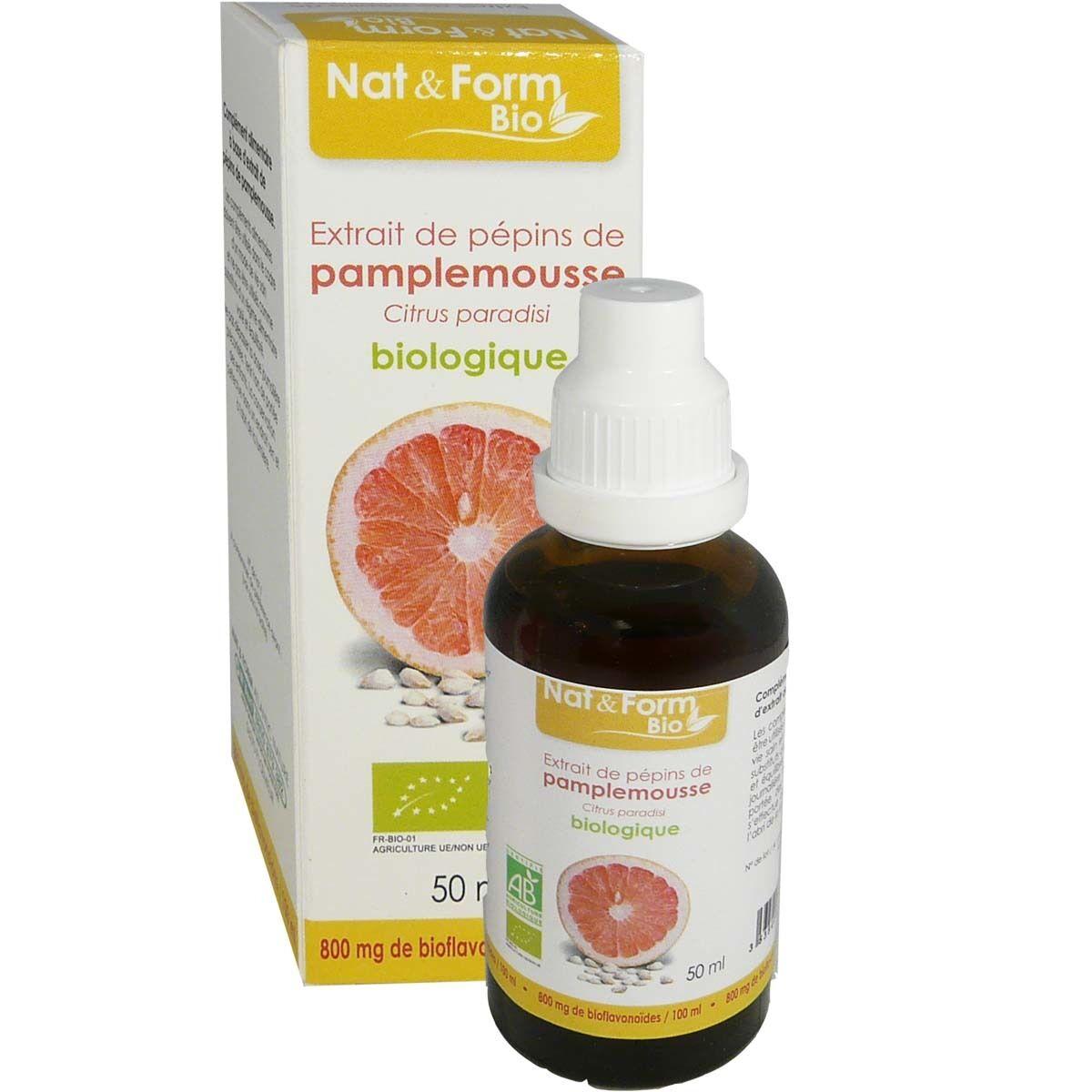 NAT & FORM Nat et form bio extrait de pepins de pamplemousse 50ml