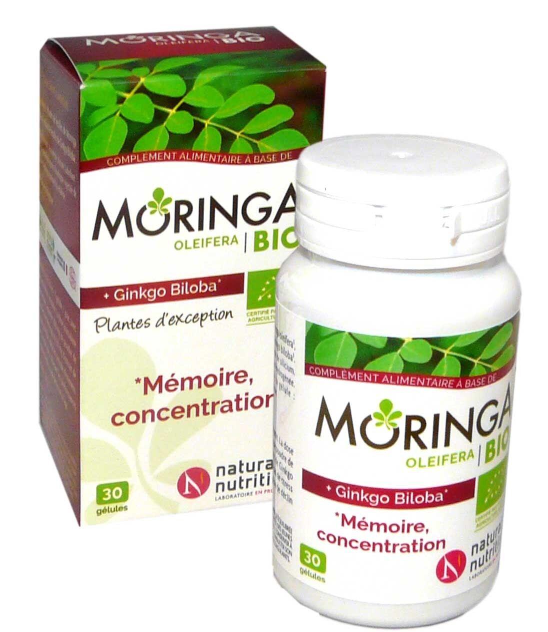 Natural nutrition moringa bio memoire concentration 30 gelules