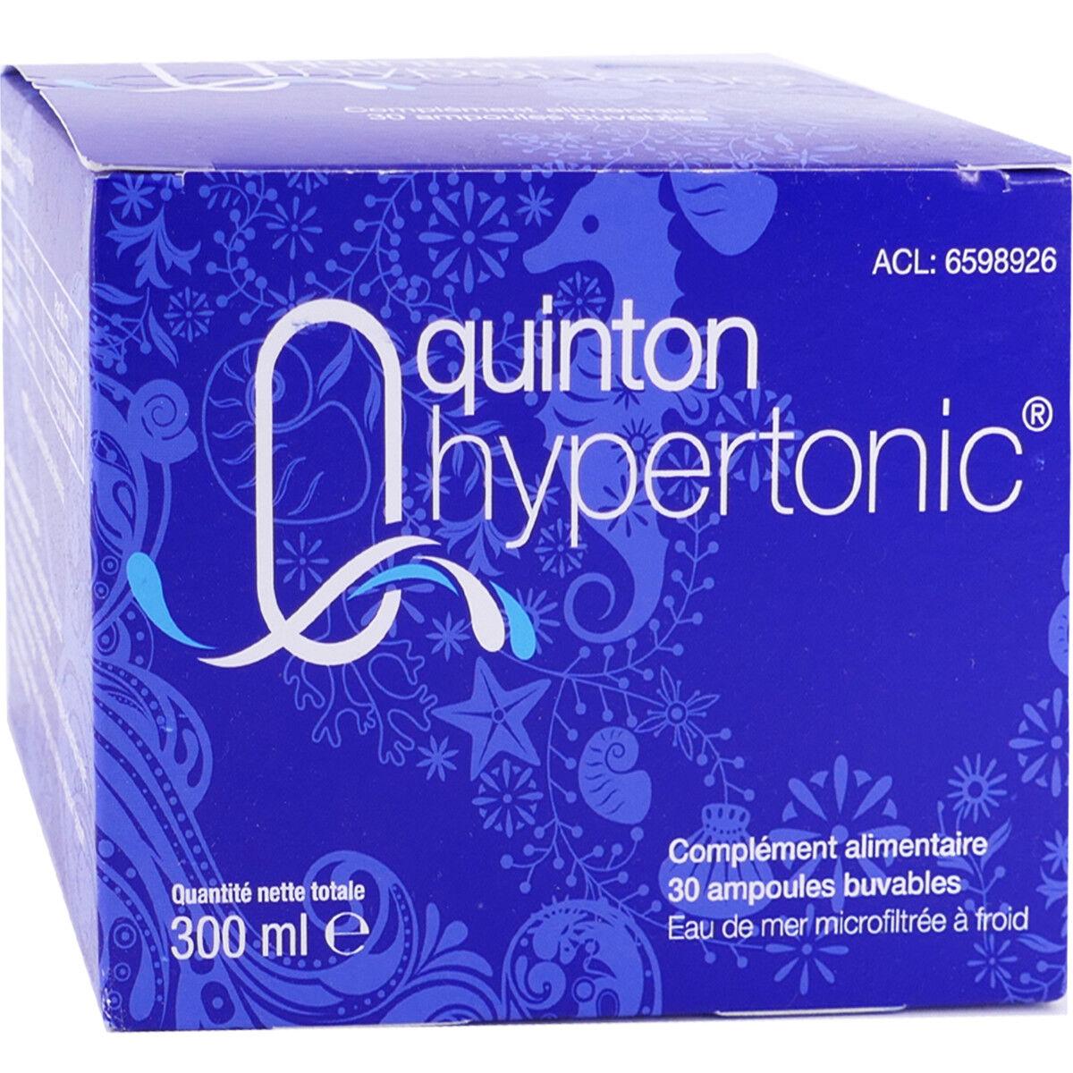 Quinton hypertonic buvable 10ml  30 ampoules 12max/commande