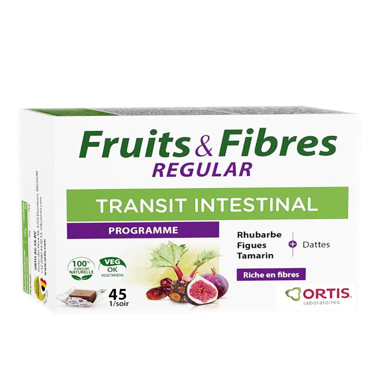 Ortis fruits & fibres regular transit intestinal 45 cubes