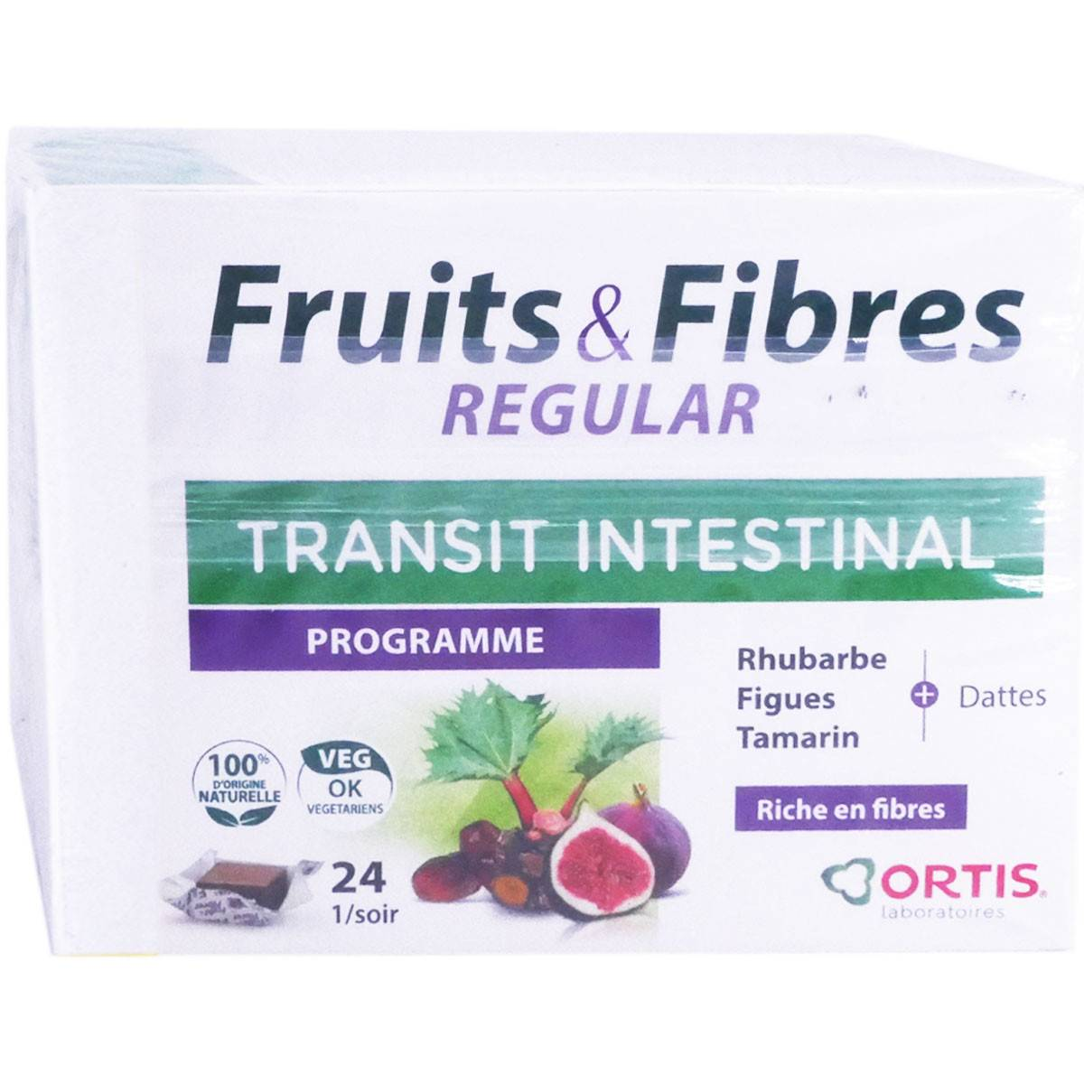 Ortis fruits & fibres regular transit intestinal 2x24 cubes