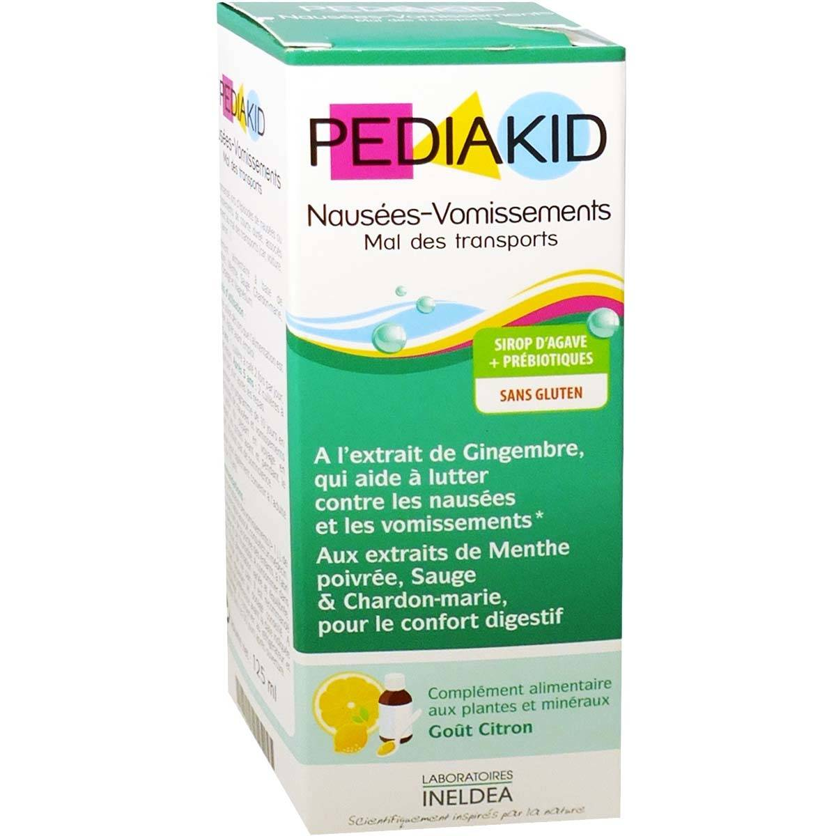 Pediakid nausees vomissements mal des transports 125 ml sirop d'agave