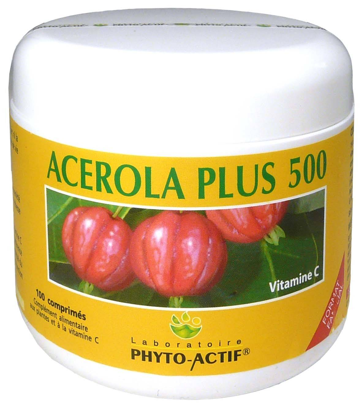 Phyto actif acerola plus 500 100 comprimes