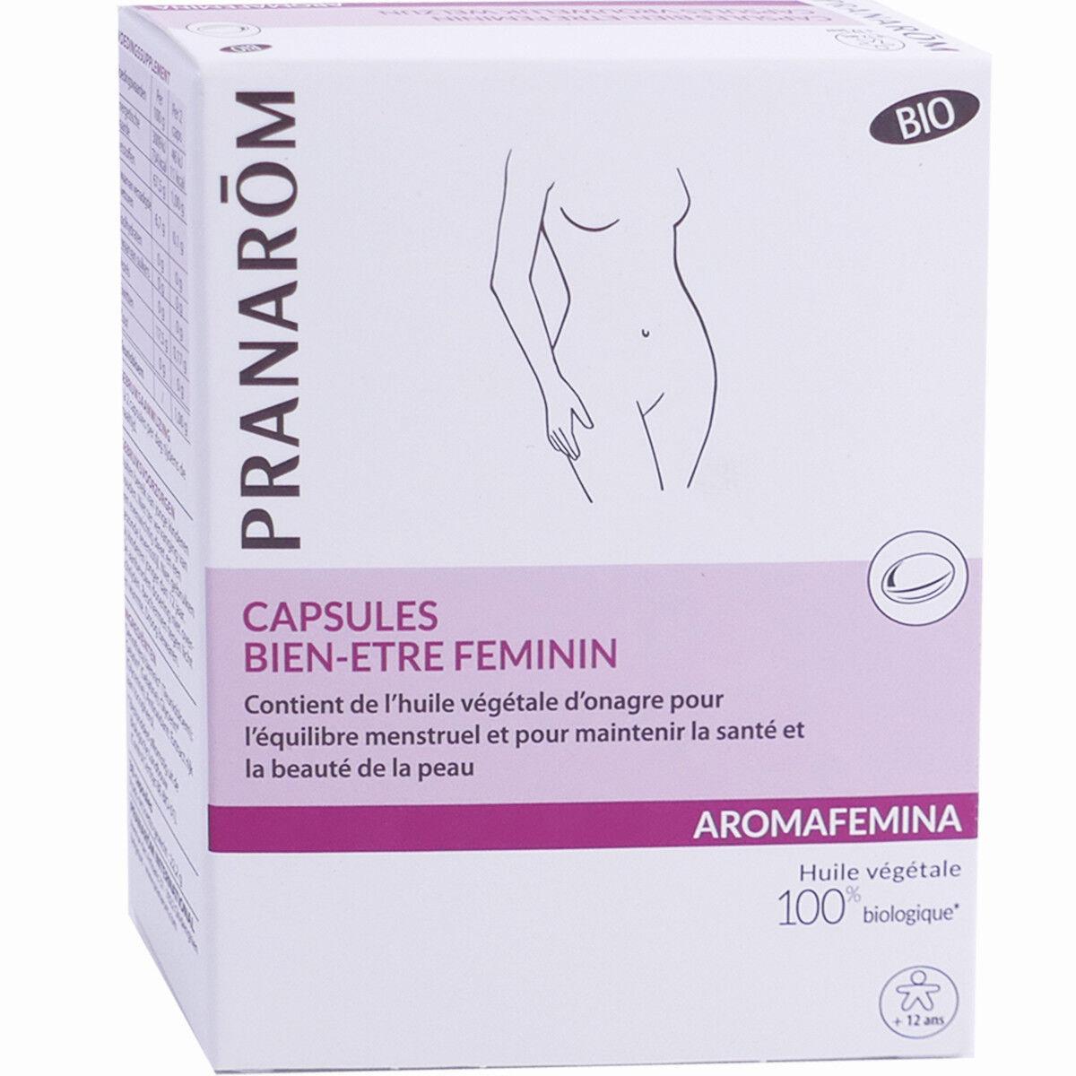 Pranarom 30 capsules bien etre feminin aromafemina