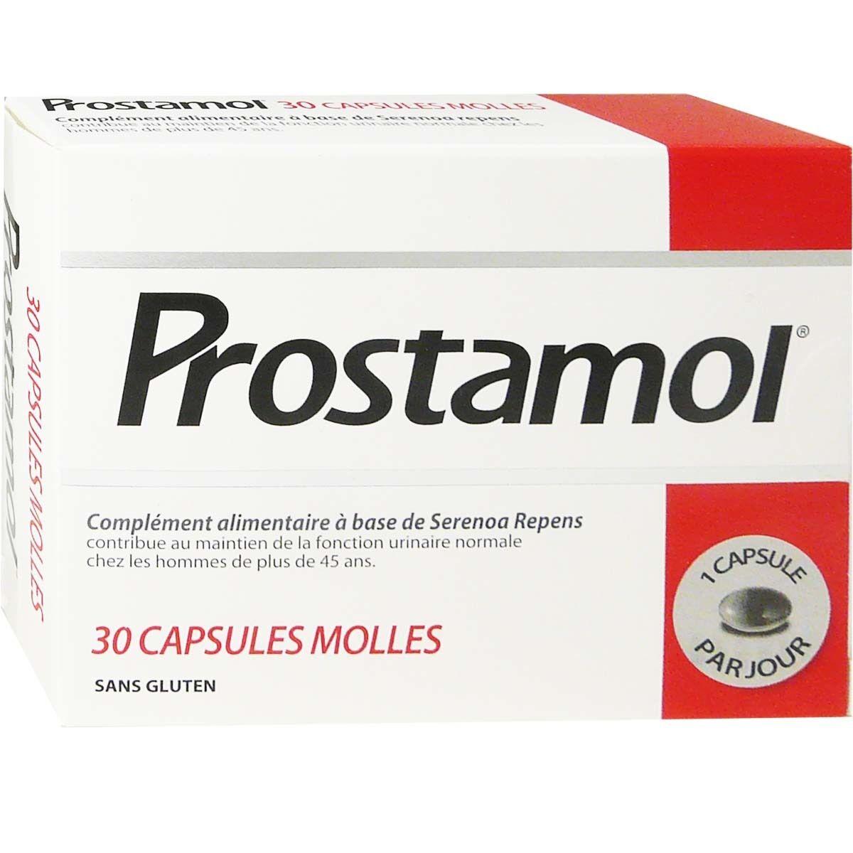 MENARINI Prostamol x30 capsules molles sans gluten