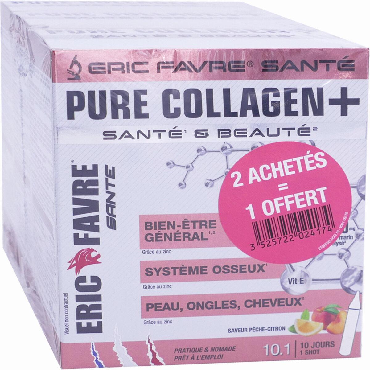 ERIC FAVRE Pure collagen+ 3x10 shots saveur pÊche citron