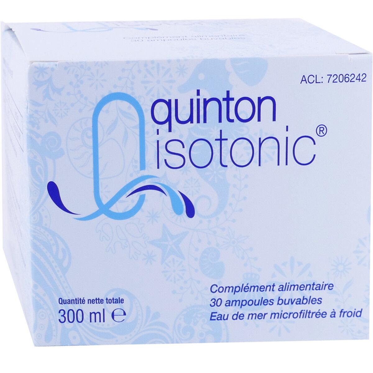 Quinton isotonic buvable 10ml 30 ampoules 12max/commande